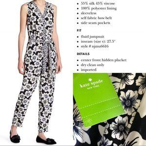 Hollyhock Silk Blend Jumpsuit Kate Spade
